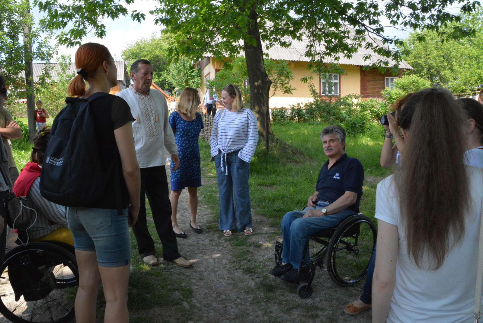 Participants are visiting rural guesthouse