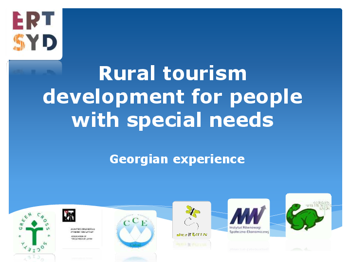 Rural tourism development for people with special needs